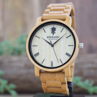 EINBAND Reise Bamboo 40mm Wooden Watch
