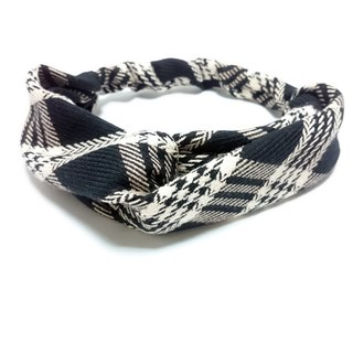 Black rice white powder line pattern tight belt cross section hairband *SK