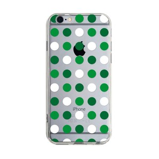 Green and White Wave Plots - iPhone X 8 7 6s Plus 5s Samsung S7 S8 S9 Phone Case