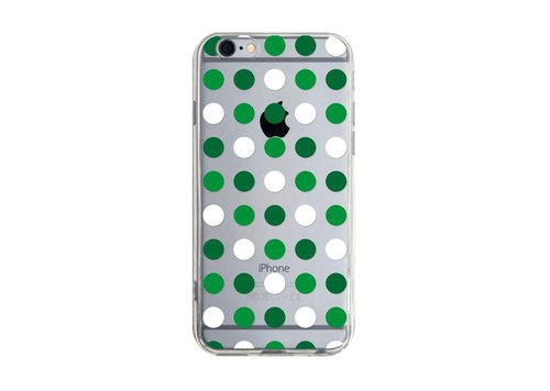 Green and White Polka Dot Figure - Samsung S5 S6 S7 note4 note5 iPhone 5 5s 6 6s 6 plus 7 7 plus ASUS HTC m9 Sony LG G4 G5 v10 phone shell mobile phone sets phone shell phone case