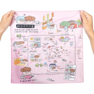 Tainan Go Le - Handkerchief Map / Pink Bubble