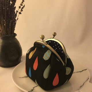 Dark raindrop gold coin purse