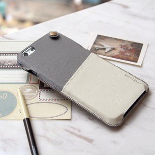 POSH | SOFT LEATHER POUCH FOR IPHONE 6/6S Plus - Grey