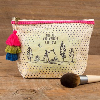 Wool Fringe Canvas Cosmetic Bag - Wander Lost|BAG249