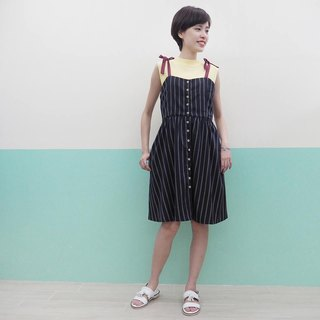 navy strips dress