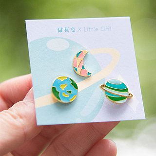 Little OH! x Sweet Secret x Mysterious Cosmic Handmade Earrings | Three-Piece Ordering Area