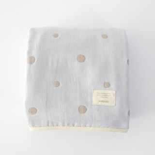 MARURU Five-layer gauze baby blanket  (S) Baby blue (Made in Japan)