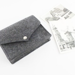 【Can be customized】 original pure handmade dark gray felt elastic belt camera bag mouse bag mouse bag power cord bag charger bag charger package package 3C surrounding storage package transmission line storage package (can be tailored) - 126