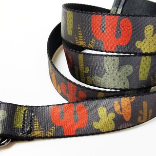 Cute catcus graphic printing woven polyester waist strap