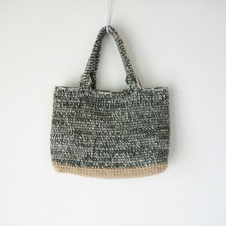 yuoworks / wool tote bag, / grass color / A4size