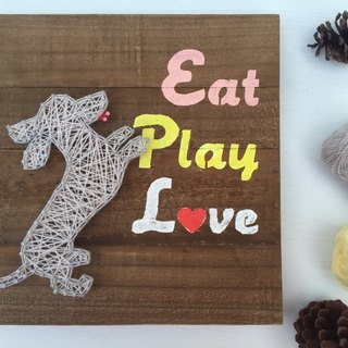[6618 Yo-Yo Tail] Eat Play Love Dachshunds Creative wood as a customized gift