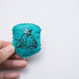 Moomin hand-embroidered brooch