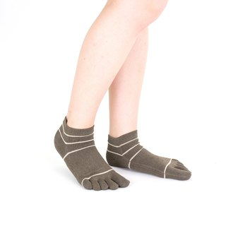 washi-stripe short 5toe socks
