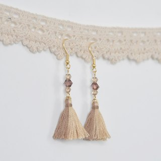 Two tassels. Czech crystal. Earrings Two Colorway Tassel. Crystal. Earring