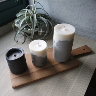 Mountain Order Page - Chiseled Cement Candle - Small