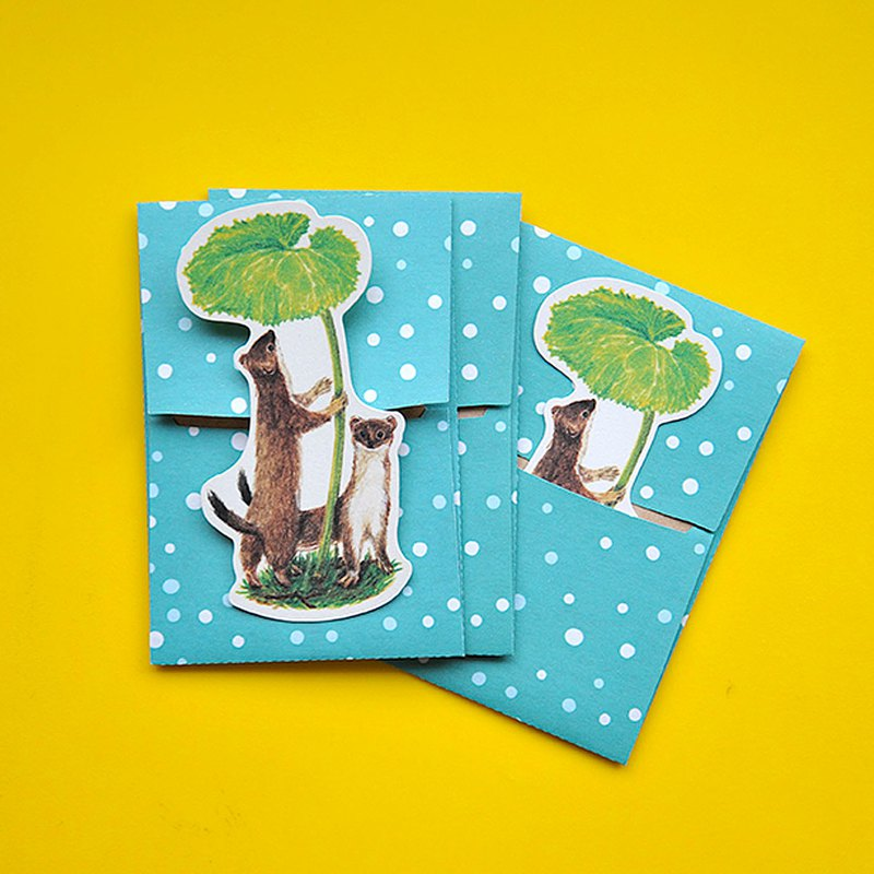 small envelope with card/Stoat