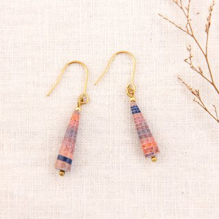 MUSEV pink pink purple dark blue beautiful gradient awl earrings