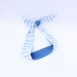 【The MAMA's Closet】Denim with Checked ((Light blue) /  Classic Headband