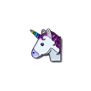 Sparkly Unicorn Emoji Pin