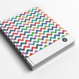 ☆ ° ° Chong Rococo strawberry WELKIN hand handmade notebook / PDA - color geometric waves
