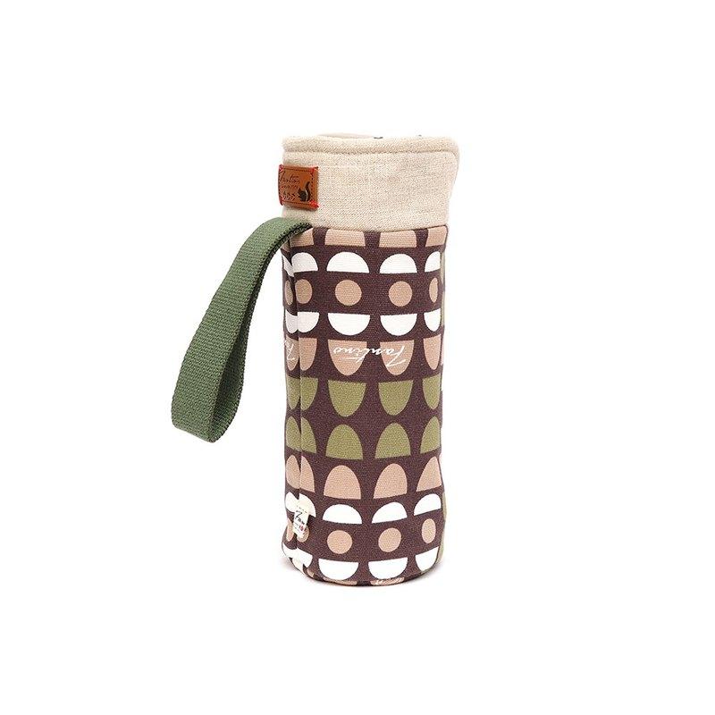 保溫防撞水壺袋 - 水玉迷宮 - 綠水玉/交換禮物/聖誕禮物