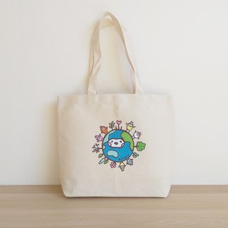 Earth Seed Horizontal Canvas Bag