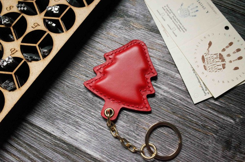 Buttero Chip Card Charm-Christmas Tree Model-Red