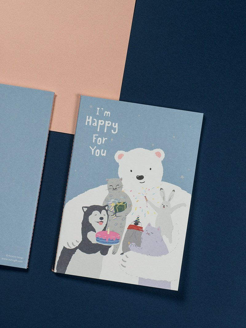 Moriori White Bear Series Notebook I am happy for you