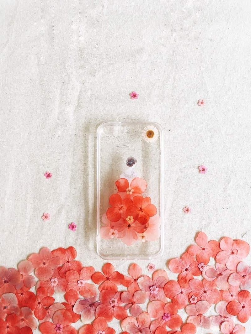Hydrangea Fairy • Handpressed Flower Phone Case