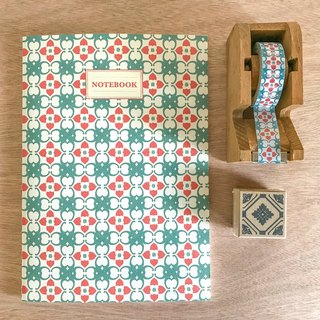 {Persimmon good persimmon gas} tile blank notebook [curl card QUEMOLICA]