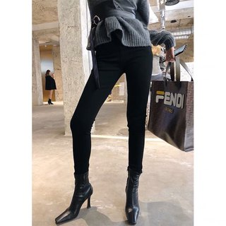 Aki Hong Kong chain autumn and winter tight thickening plus velvet slim feet pants leggings trousers store