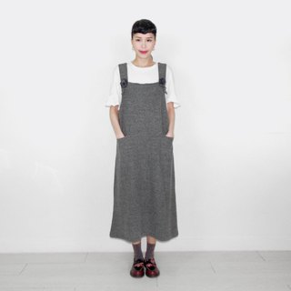 Ma gray front pocket vintage dress BI6014
