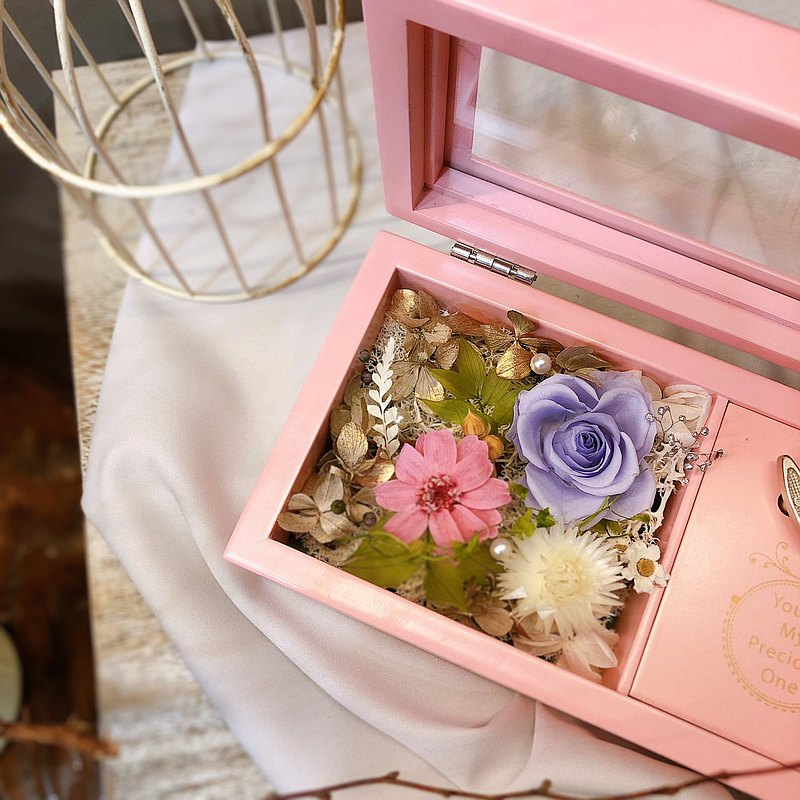 【Meet Hengjiu】Flowers and plants natural fragrance eternal life rose music box