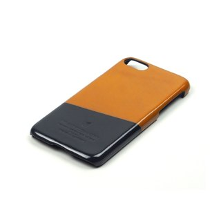 Racket leather case iPhone 7 /Squash (Tan-grey)