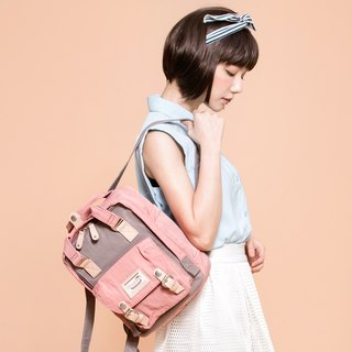 Doughnut Waterproof Mini Macaron Backpack - Strawberry Puffs