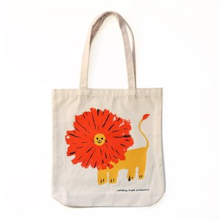 You make me smile - Lion tote bag