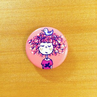 Darwa - bird girl - badge