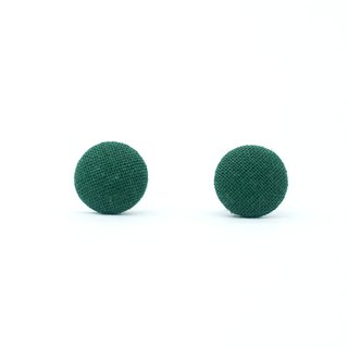 Circle dot Small Green Stainless Steel Earrings Earrings Woven Earrings 207