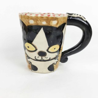 Nice Little Clay Mug Cute Cat 01061-07