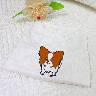 [Hairy child name customized models] butterfly dog ​​Papillon Dog reflective vests (hairy child paragraph)