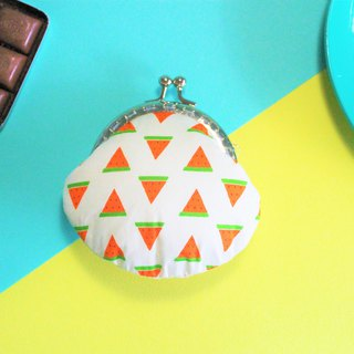 Small watermelon mouth gold bag / purse / packet