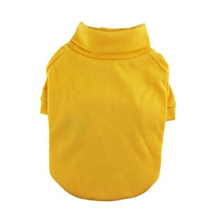 Yellow 1 x 1 Rib Knit Turtleneck T-shirt, Dog Tee, Dog Apparel