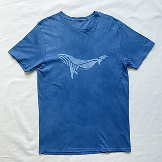 Indigo dyed indigo organic cotton - BLUE STAR DARK TEE star