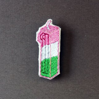 mini handmade embroidery pin - birthday candle no.1