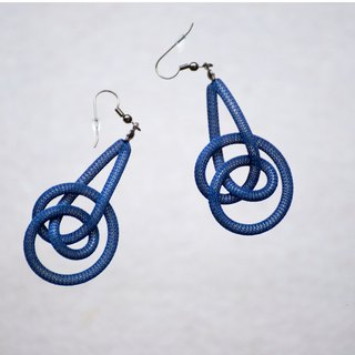 Lussli | Knitted Earring (Blue)