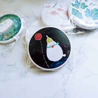 Cat Green - My Little Prince / Portable Circle Mirror