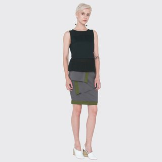 Sleeveless Textured Top with Sash (Black)