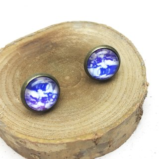 Bronze Hand Earrings〗 〖Dancing Series Purple Dream Marble also provide a folder folder type ◙