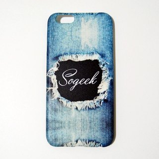 SO GEEK mobile phone shell design brand THE DENIM GEEK tannins broken section