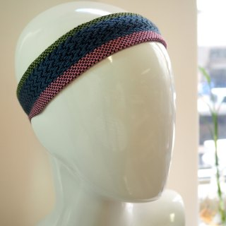 Weaving Colored Head with Green Blue Pink